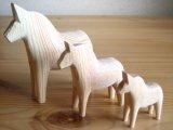 グラナス Grannas/ダーラナホース Dalahorse/トリオセット(7cm,10cm,13cm)/木製玩具