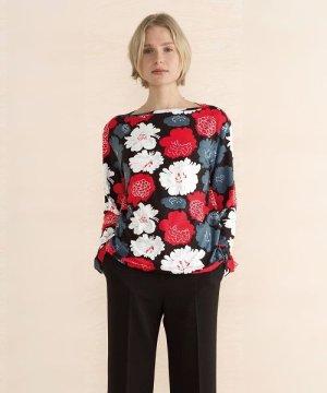 画像2: マリメッコ Marimekko/ピエニ ピオニ Pieni Pioni/ Henna shirt(ブラック×レッド)