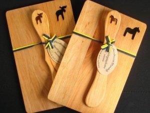 画像2: ヘムスロイド Hemsloid/ウッドボード&ナイフ セット Wood Board & Knif Set/『ダーラヘスト』木製プレート