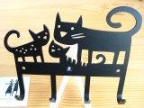 ベングト&ロッタ Bengt & Lotta/ネコ Cat/4連アイアンフック
