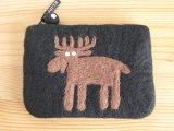 クリッパン Klippan/エルク Elk/フェルト・ポーチ/ブラック