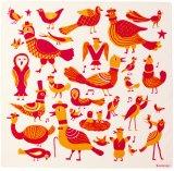 カウニステ Kauniste/ラウルリンヌット Laululinnut(ソングバーズ)鳥の歌(オレンジ)/ハンカチ