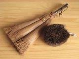 和歌山・海南市・伝統手工芸品/棕櫚(シュロ)手ほうきM+シュロたわし/棕櫚(シュロ)2点セットA