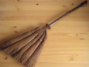画像4: 和歌山・海南市・伝統手工芸品/棕櫚(シュロ)の長柄ほうき&手箒Lサイズ2点セット/ほうき