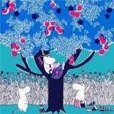 ムーミン Moomin Tribute Works/ パパの休日(ブルー)/ ハンカチ