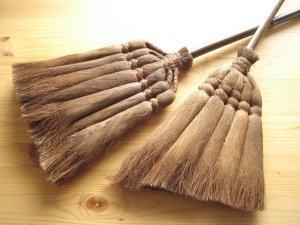 画像2: 和歌山・海南市・伝統手工芸品/棕櫚(シュロ)の長柄ほうき&手箒Lサイズ2点セット/ほうき