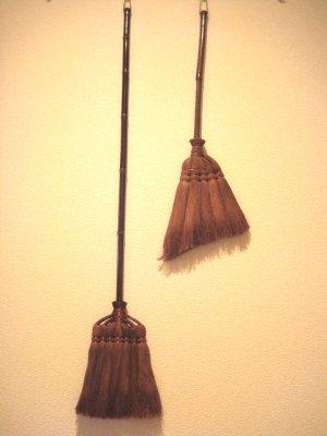 画像5: 和歌山・海南市・伝統手工芸品/棕櫚(シュロ)の長柄ほうき&手箒Lサイズ2点セット/ほうき