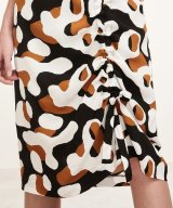 40%OFF!! マリメッコ Marimekko / Susannu スカート / ブラック×ブラウン×オフホワイト
